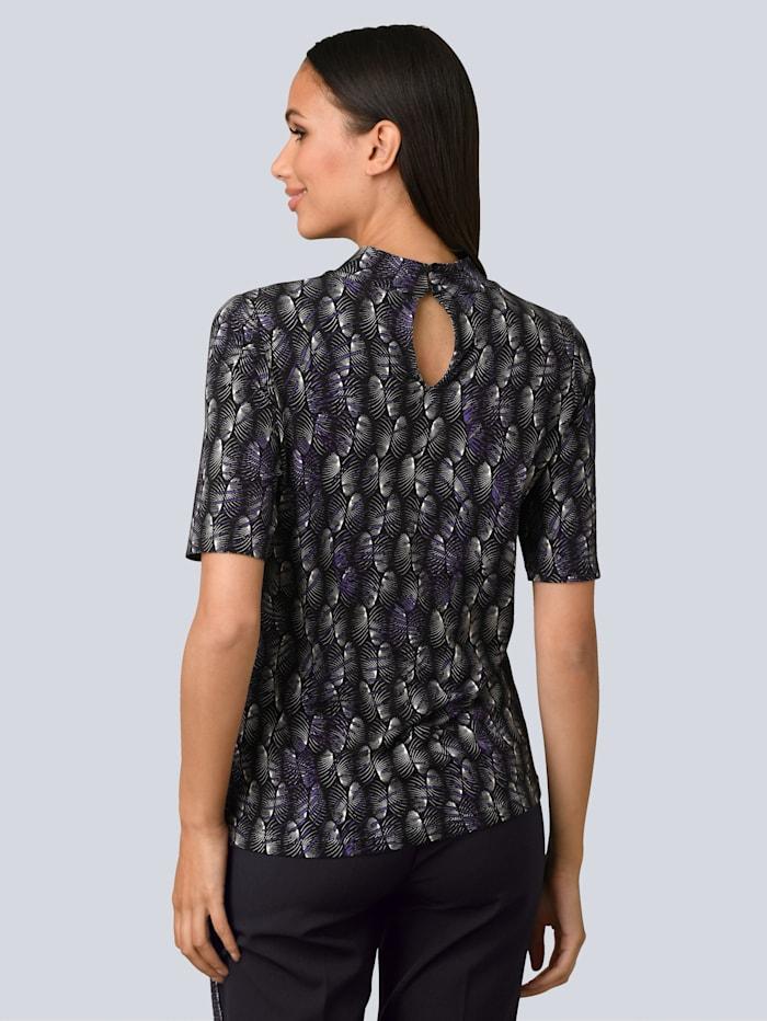 Shirt in exklusivem Alba Moda Print allover