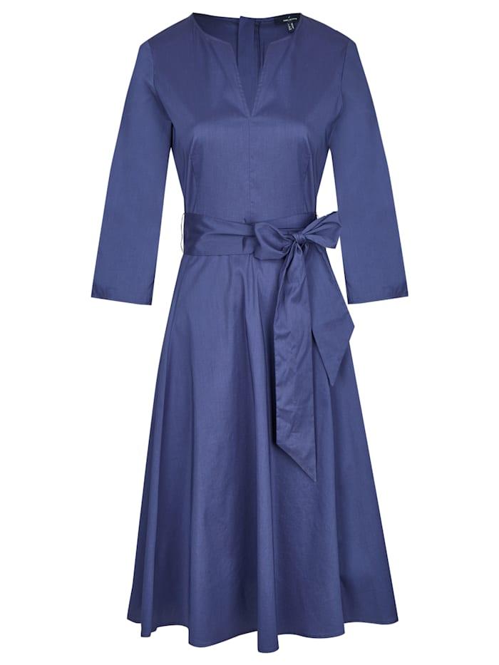 Daniel Hechter Schönes Kleid mit breitem Bindegürtel, navy