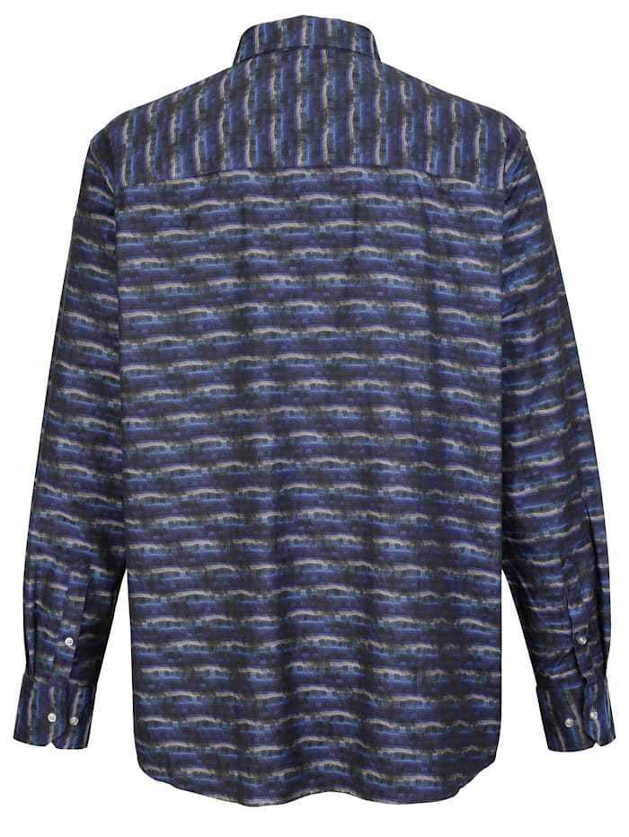 Skjorta med jacquardvävt mönster