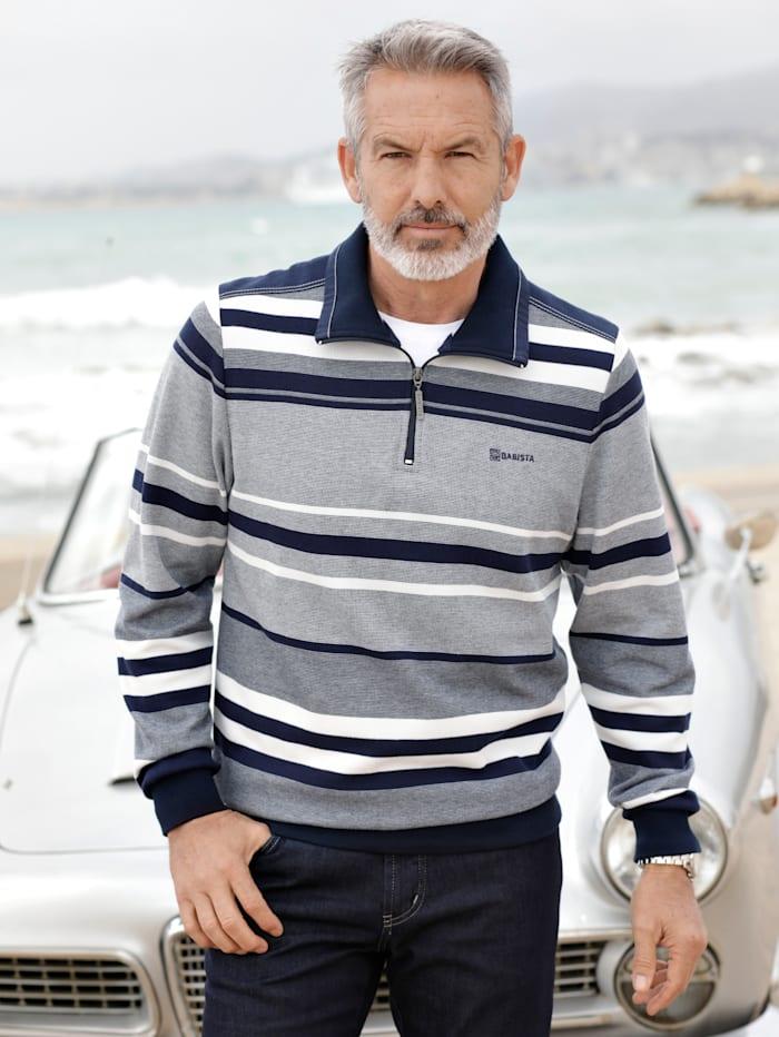 BABISTA Sweatshirt in bicolor look, Grijs/Marine