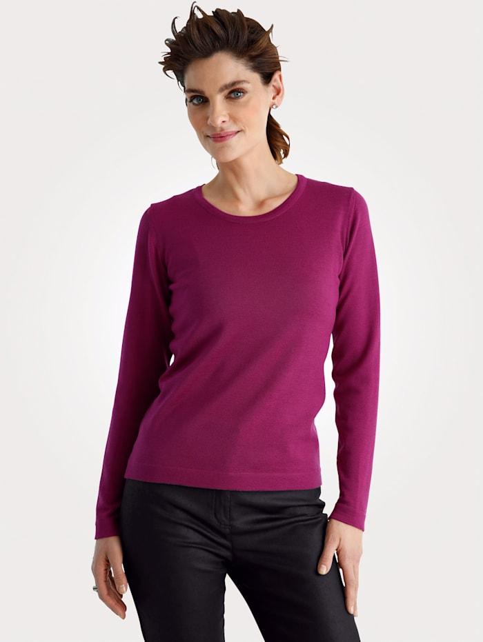 MONA Pullover aus reiner Merinowolle, Beere