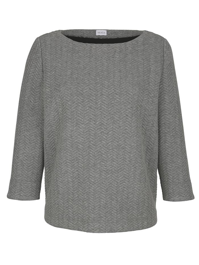 Sweatshirt mit Fischgrätenstruktur