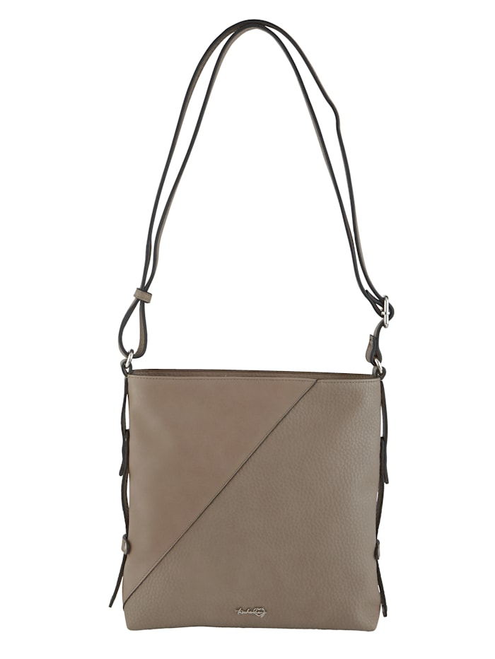 Taschenherz Shoulder bag made from a premium fabric, Taupe