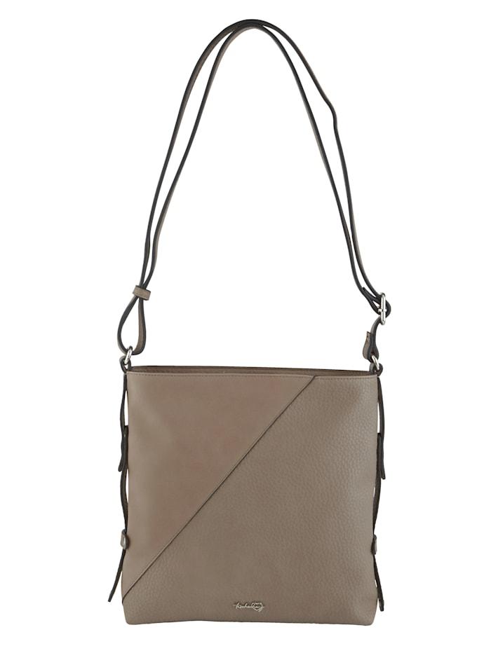 Taschenherz Umhängetasche aus hochwertigem Softmaterial, taupe