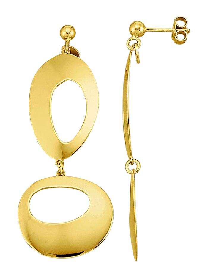 AMY VERMONT Örhängen av guldfärgat silver 925, Guldfärgad