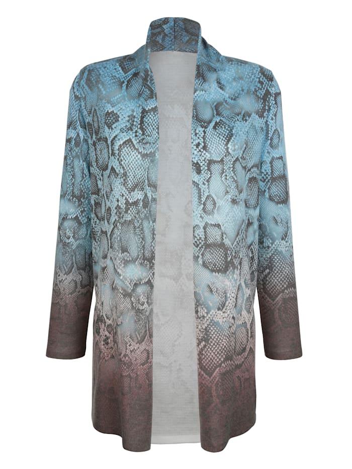 Vest met snakepatroon