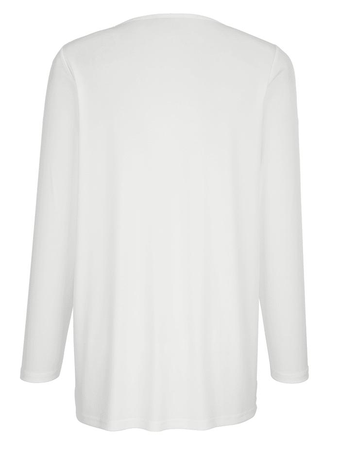 Shirt met decoratief kant