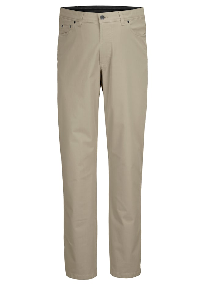 Men Plus Hose Straight Fit, Sand