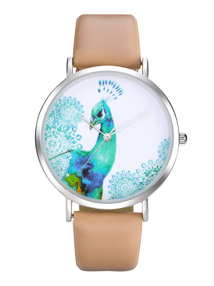 Eternal Love Armbanduhr Mit süßem Motiv, Beige