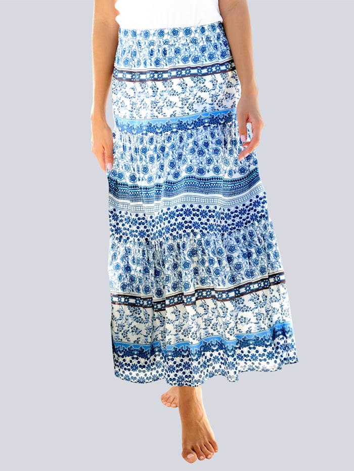 Alba Moda Strandrock aus Baumwolle, Blau