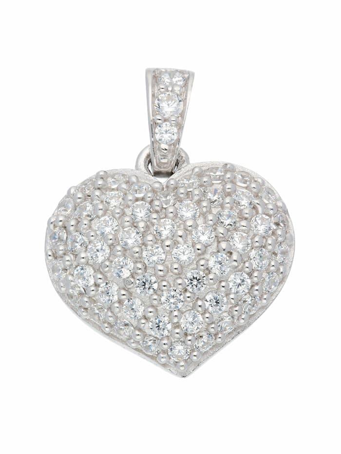 1001 Diamonds 1001 Diamonds Damen Silberschmuck 925 Silber Anhänger mit Zirkonia, silber