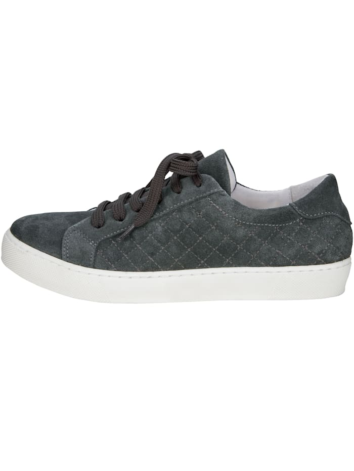 Suede Trainers with contemporary stitching