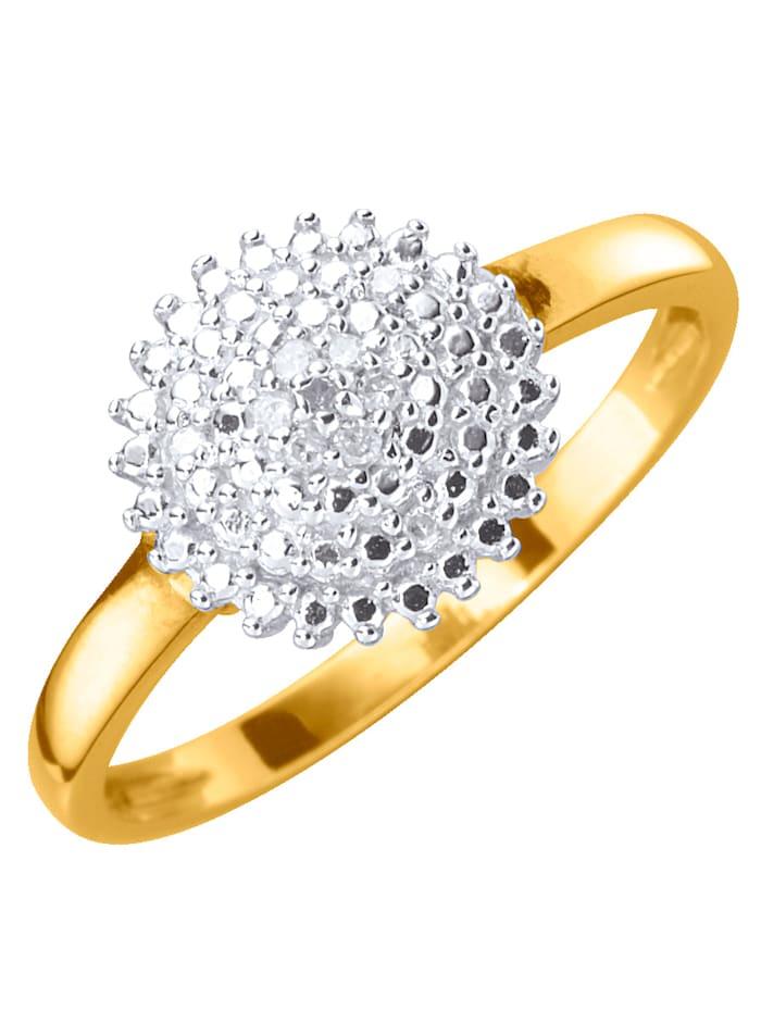 KLiNGEL Damesring met diamanten, Wit