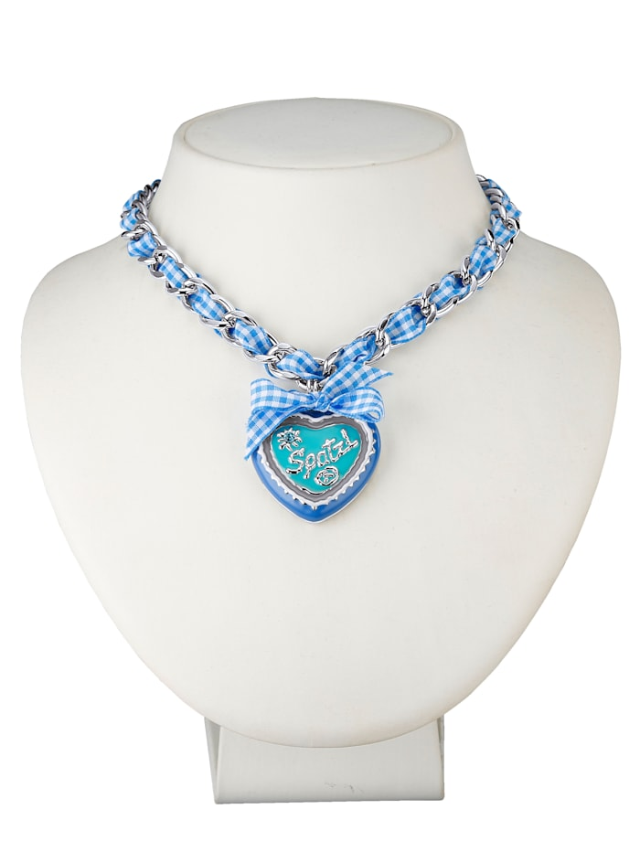Gipfelzauber Collier mit Band 889013112470, Blau