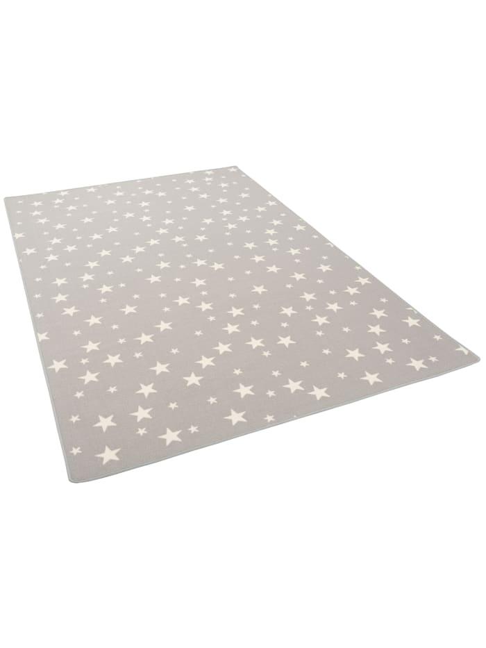 Snapstyle Kinder Spiel Teppich Sterne, Grau