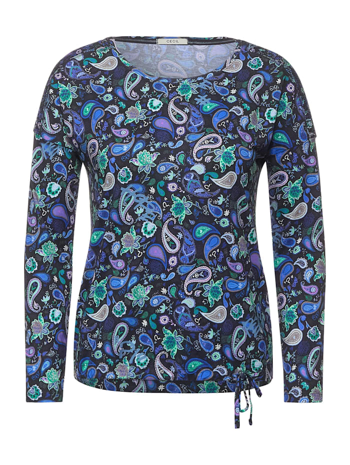Cecil Shirt mit Paisleymuster, carbon grey