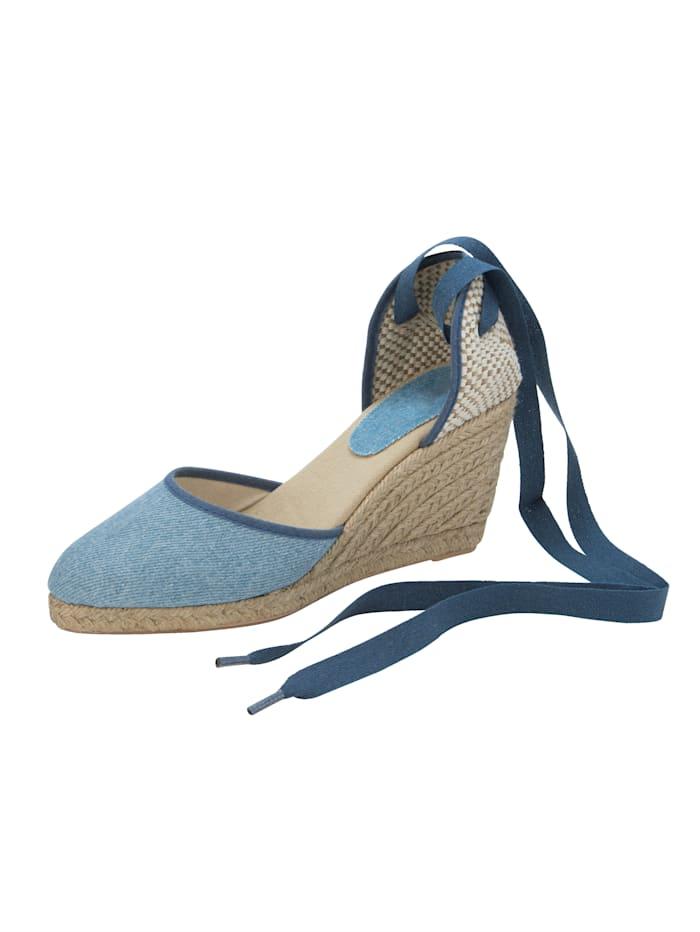 Sandaaltje in trendy jeanslook, Lichtblauw