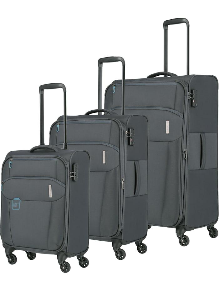 Travelite Go 4-Rollen Kofferset 3tlg. 3-teilig, anthrazit