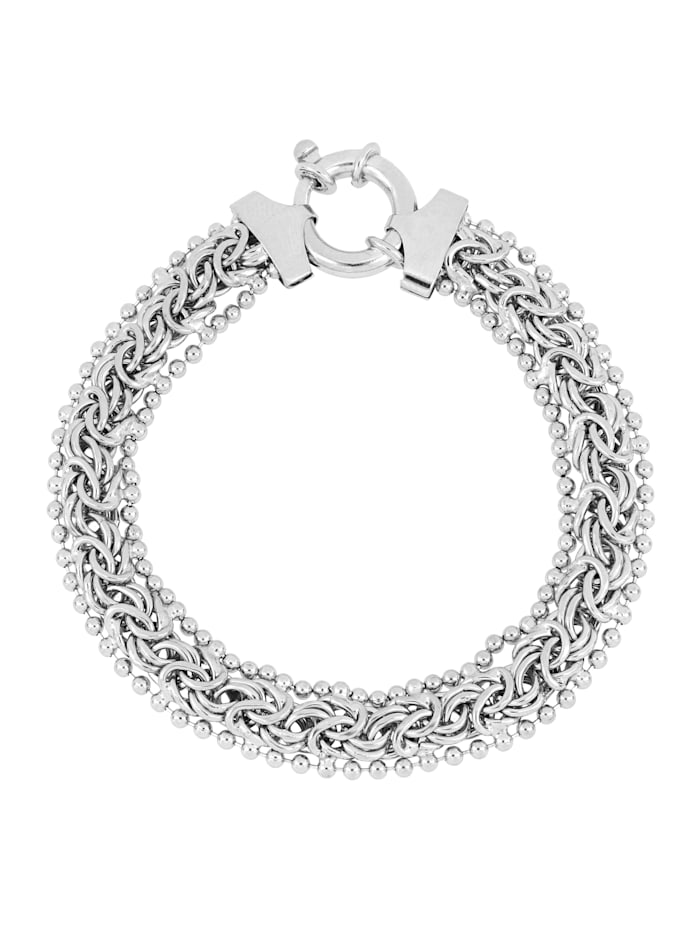 Grazielli Koningsarmband van gerodineerd zilver, Zilverkleur