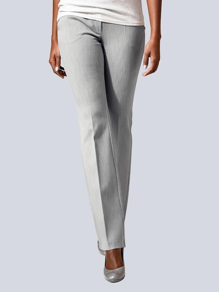 Alba Moda Hose aus figurformendem Stretch-Material, Grau