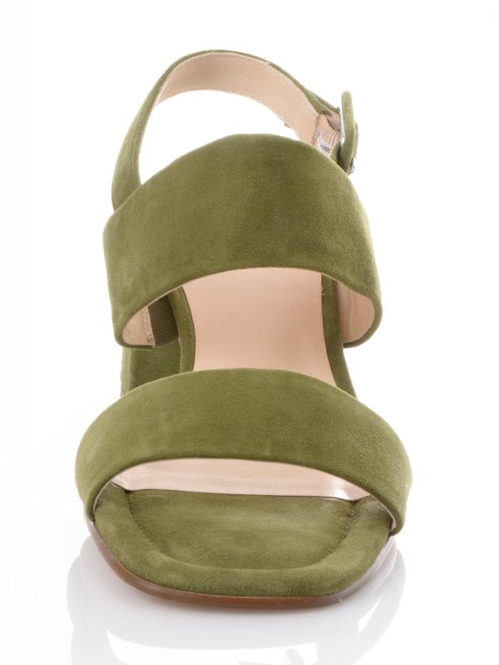 Sandalette aus weichem Veloursleder
