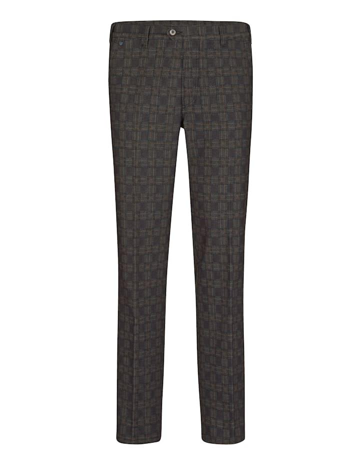 BABISTA Pantalon d'aspect laine chic, Marron/Noir