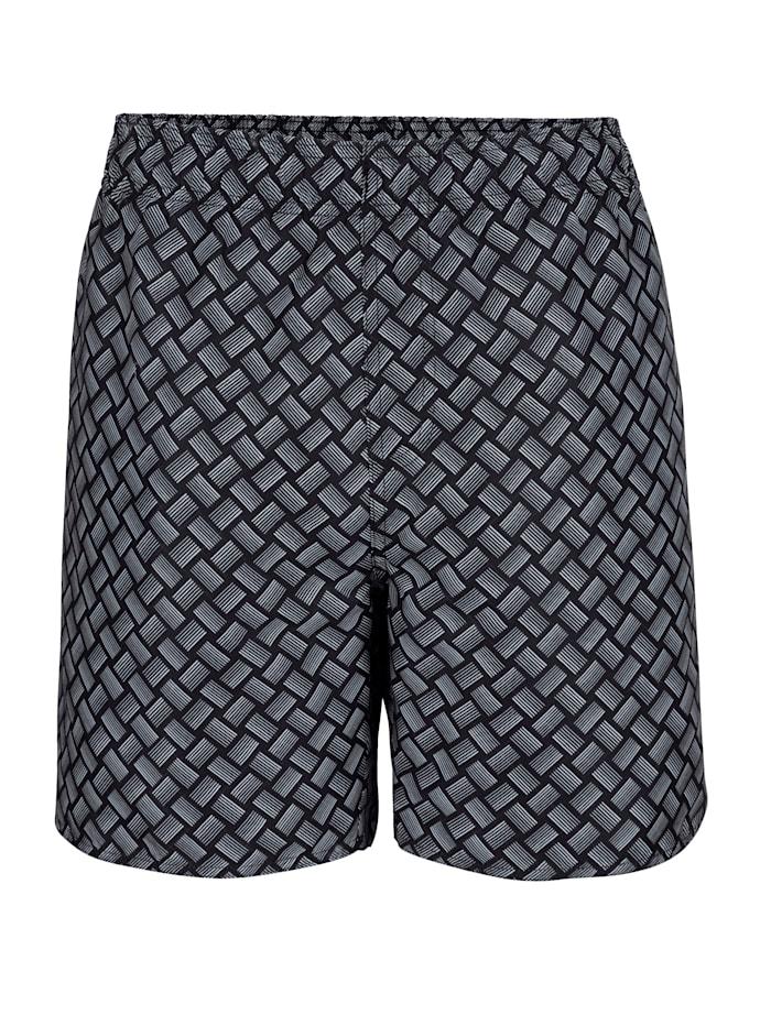 Shorts de bain de coupe ample, Noir/Gris