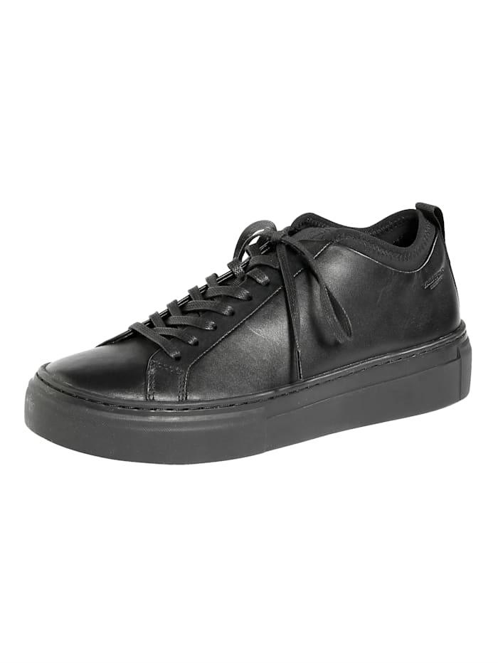 Vagabond Sneaker van zacht nappaleer, Zwart