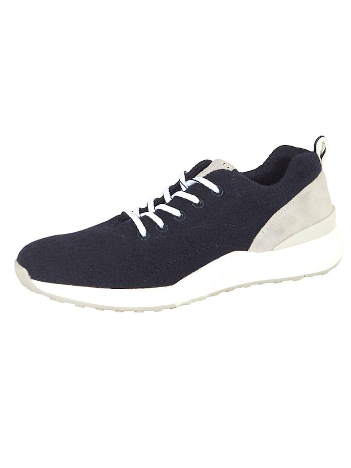 Marco Tozzi Sneaker mit verarbeiteter Merinowolle, Blau