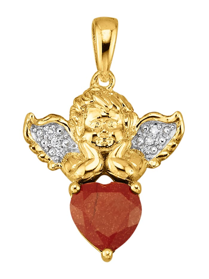 Amara Tendance Pendentif Signe du zodiaque Bélier, Rouge