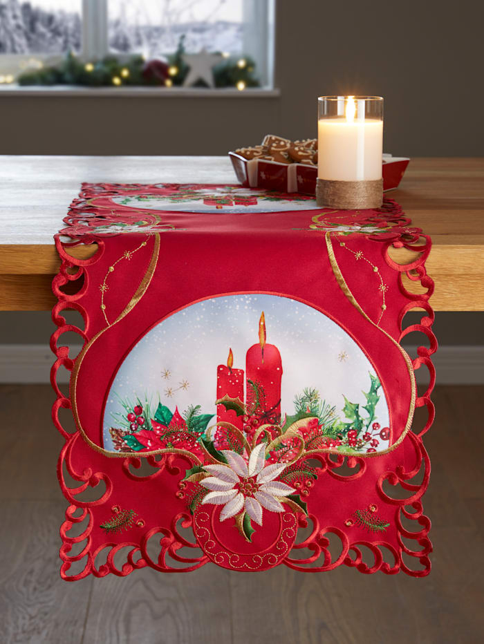 Webschatz Tischwäsche 'Cloe', rot bunt
