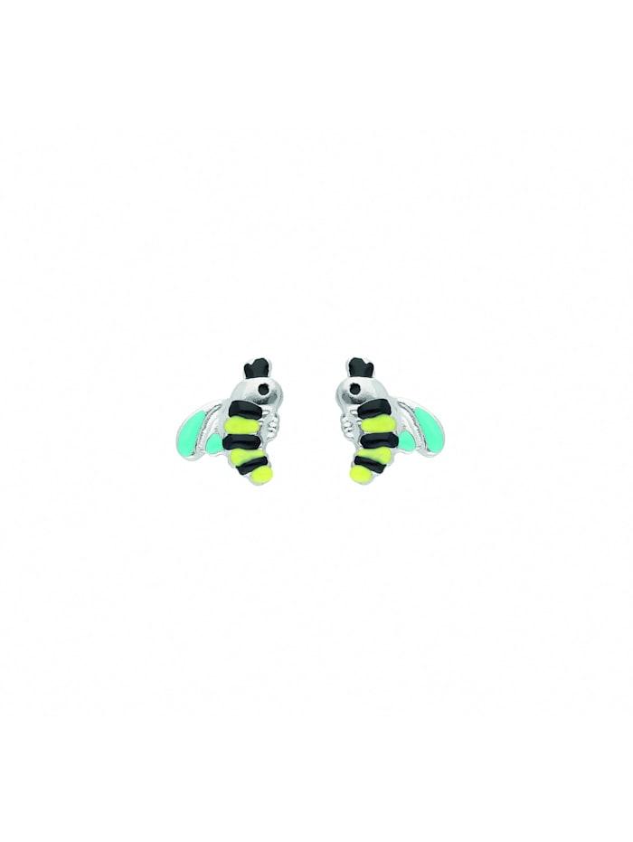 1001 Diamonds Damen Silberschmuck 925 Silber Ohrringe / Ohrstecker Biene gelb, schwarz, blau, silber