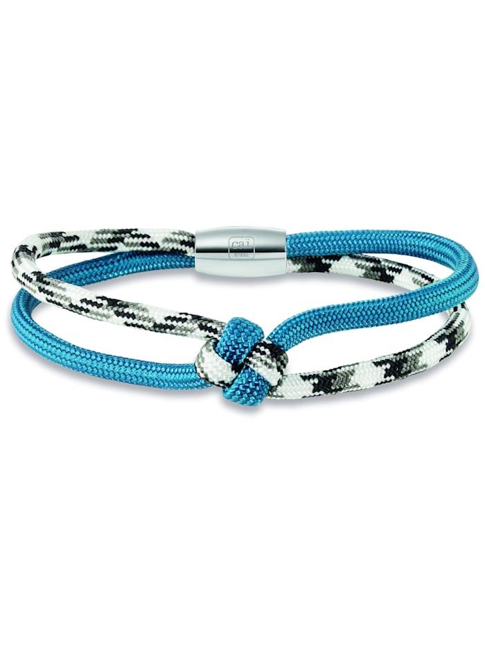 CAI Armband 925/- Sterling Silber ohne Stein 21cm Mehrfarbig, blau