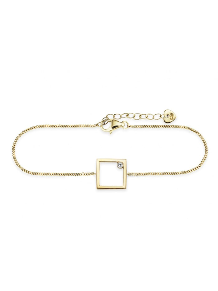 CAI Armband 925/- Sterling Silber Zirkonia weiß 16+3cm Glänzend, gelb