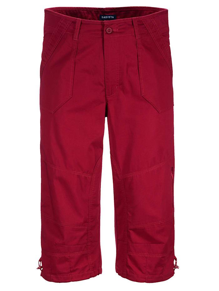 BABISTA Long-Bermuda mit praktischen Taschen, Rot