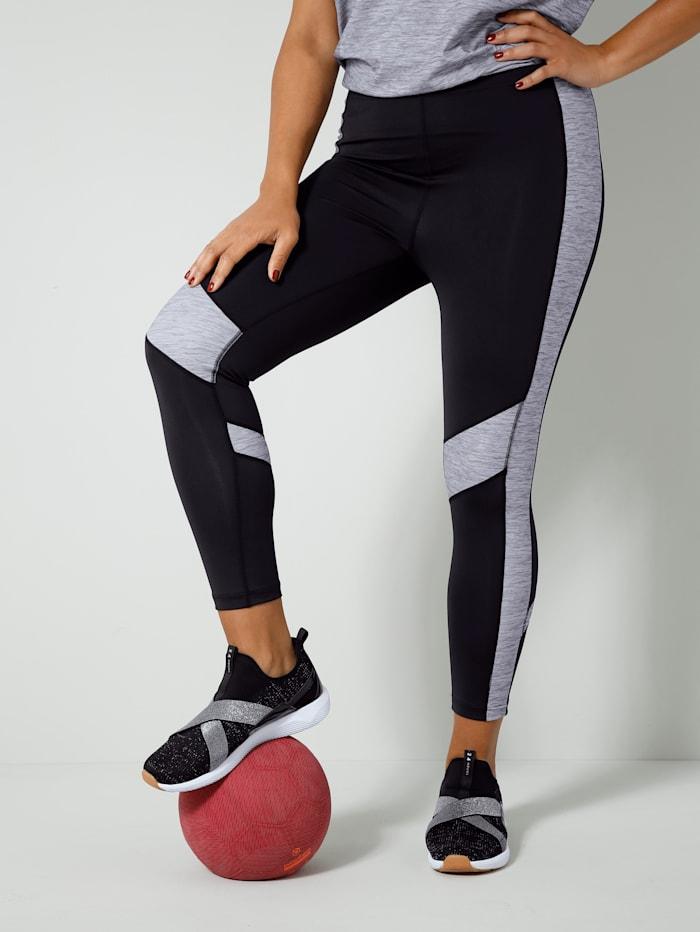 Janet & Joyce Legging in sportief model, Grijs/Zwart