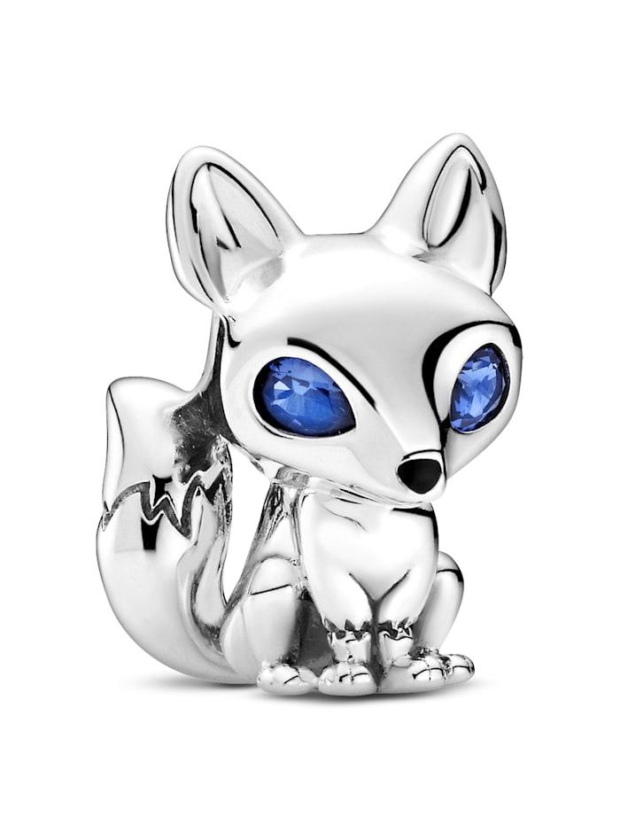 Pandora Charm - Blauäugiger Fuchs - 799096C01, Silberfarben