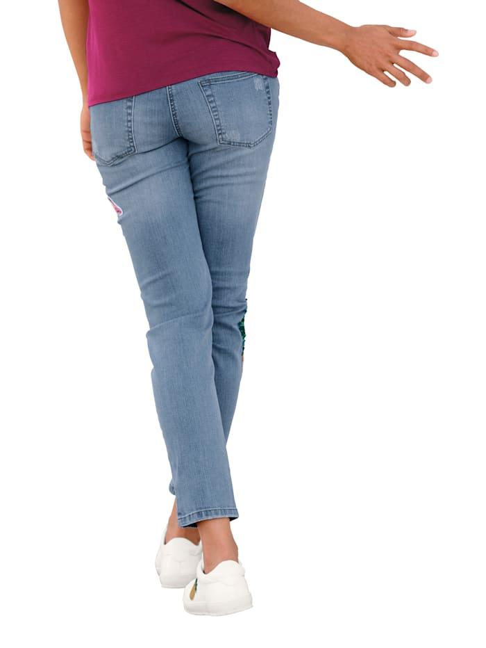 Jeans mit Pailletten-Applikation