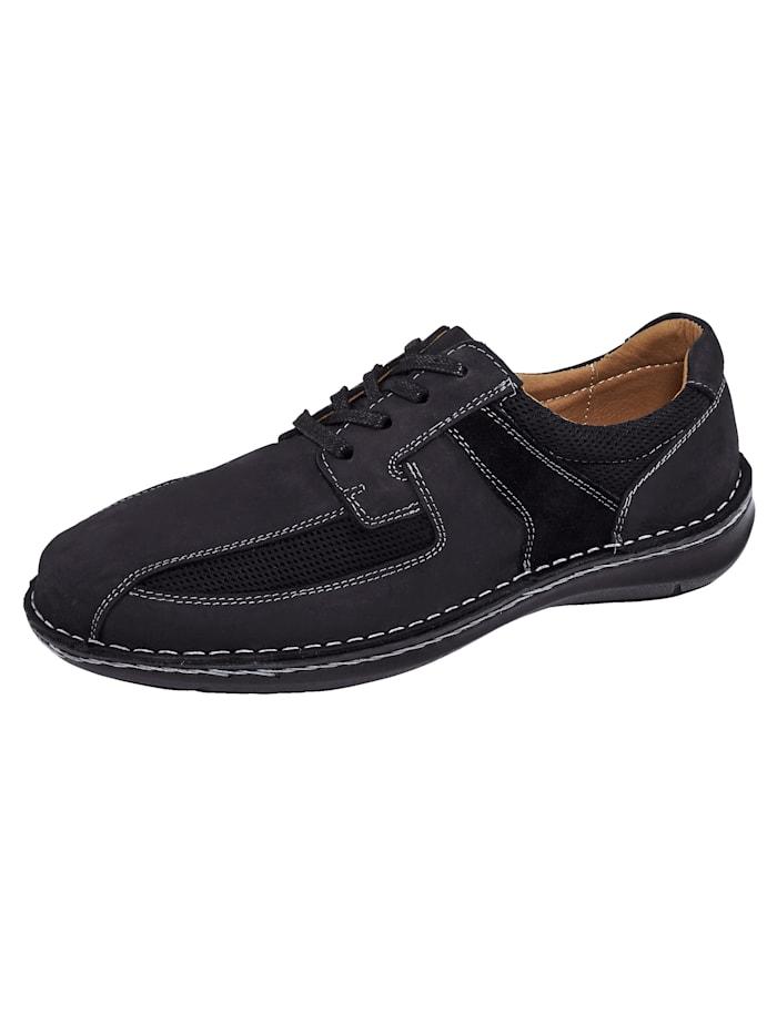 Roger Kent Šněrovací boty s letním mesh, Černá