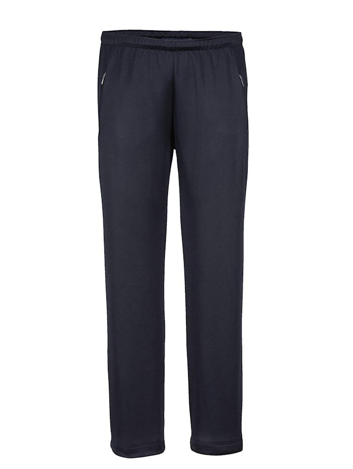 BABISTA Pantalon de loisirs en matière au repassage superflu, Marine