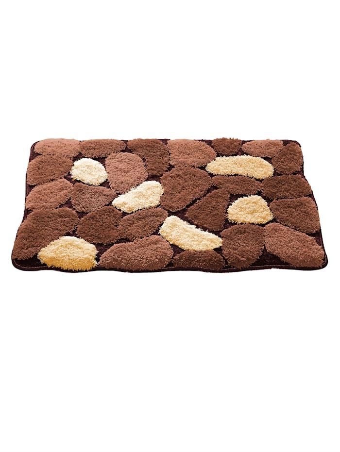 Webschatz Badmatten Stone, Bruin