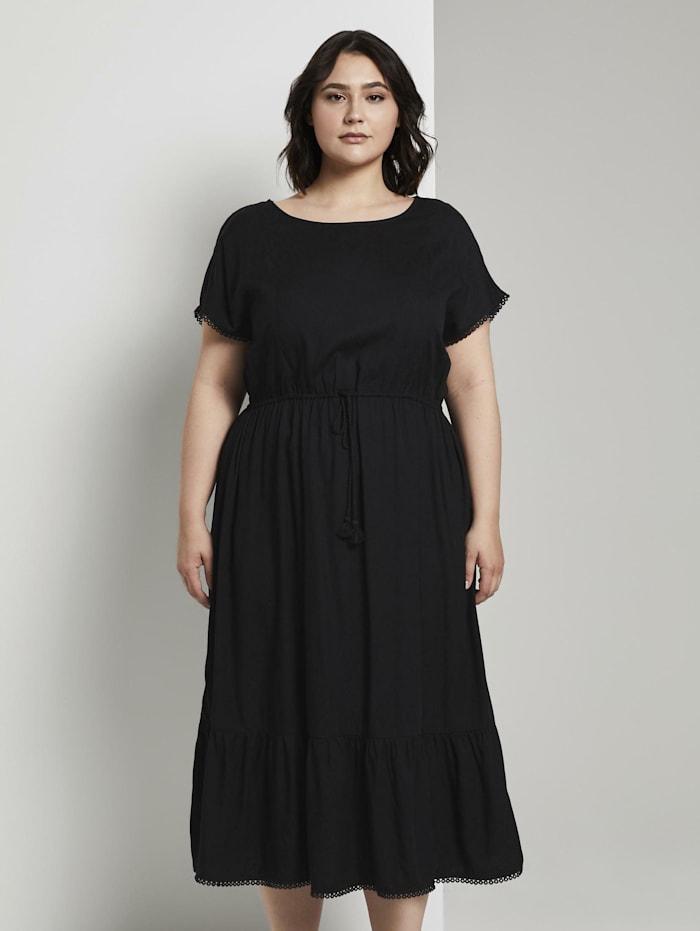 MY TRUE ME by Tom Tailor Sommerliches Kleid mit Häkel-Details, Deep Black