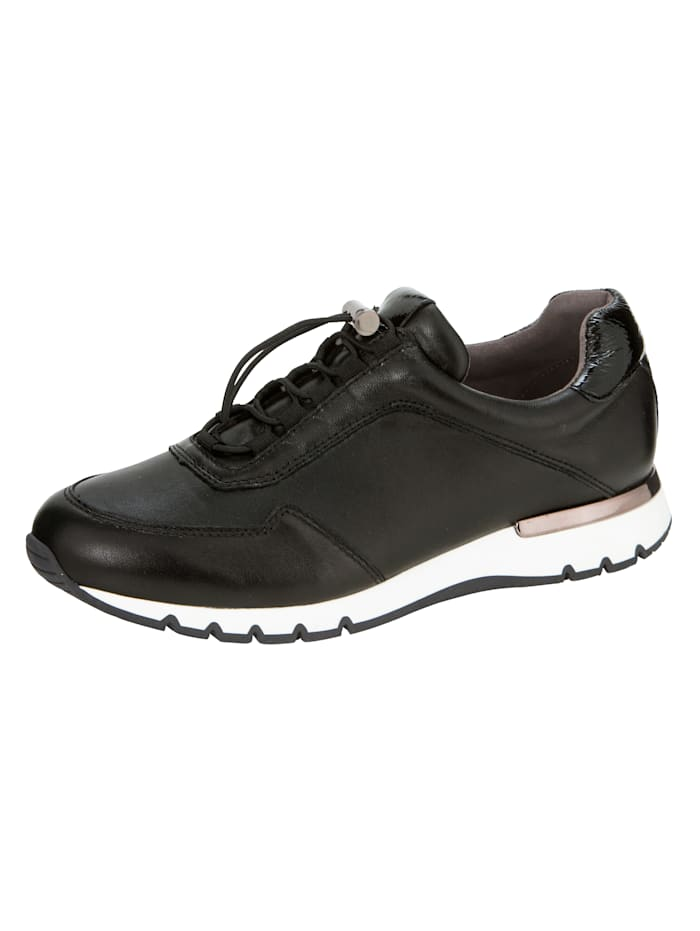 Caprice Trainers made from premium leather, Black
