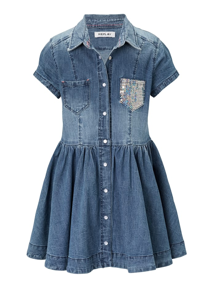REPLAY Jeanskleid Kids, Blau