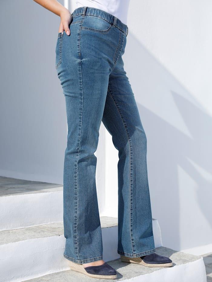 MIAMODA Jeans met uitlopende pijpen, Blue stone