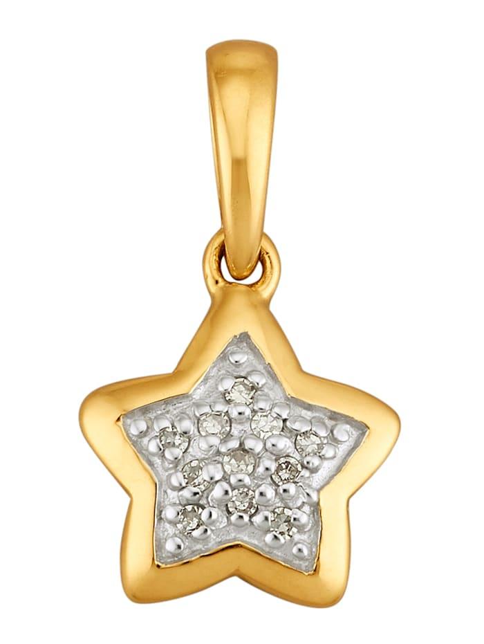 AMY VERMONT Pendentif Étoile avec diamants, Coloris or jaune