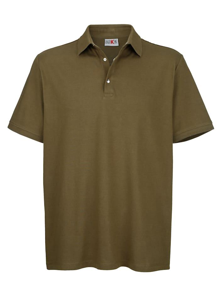 Roger Kent Poloshirt met drukknoopsluiting, Olijf