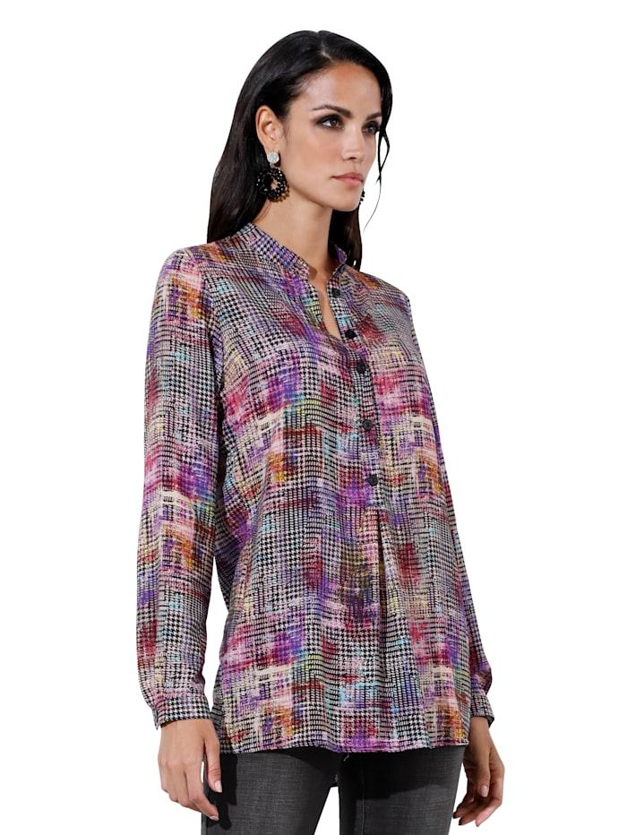 AMY VERMONT Bluse mit modischem Druck, Multicolor