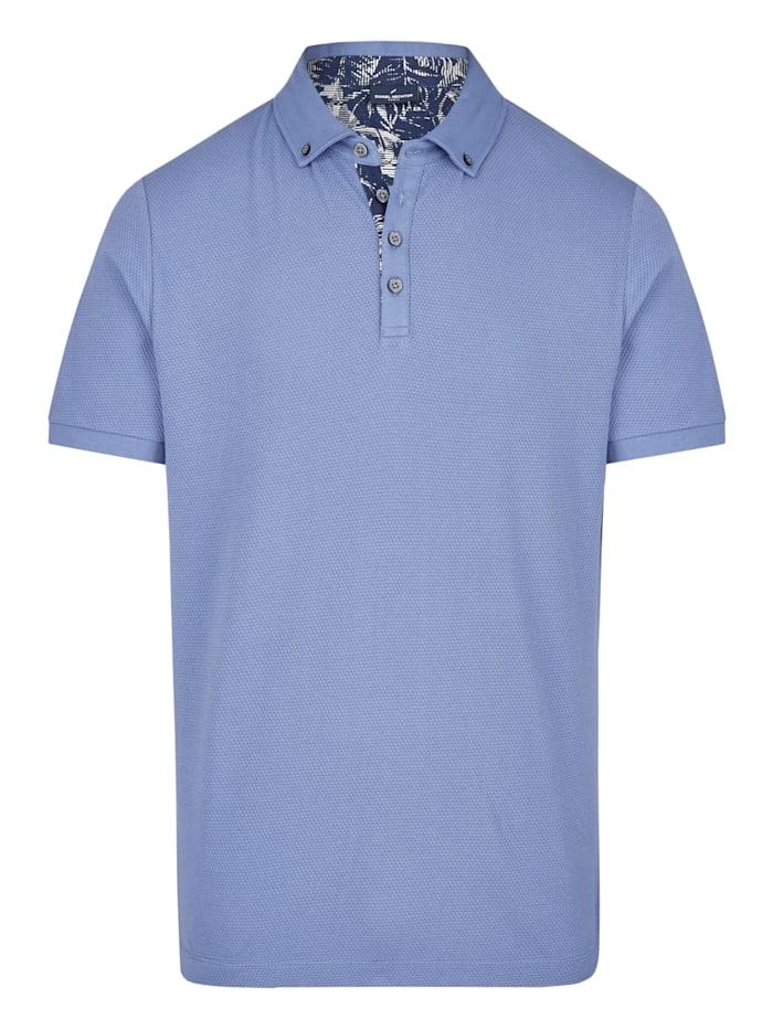 Daniel Hechter Polo-Shirt mit stylischer Wabenstruktur, cornflower - 650