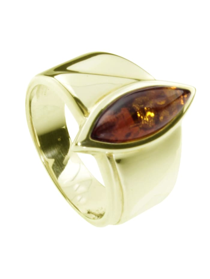 OSTSEE-SCHMUCK Ring - Ranva - Gold 333/000 - Bernstein, gold